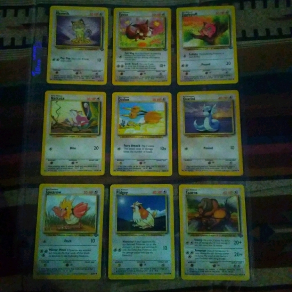Base and Jungle Set Normal Type Pokemon Cards